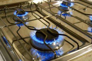 пламъци на газова печка